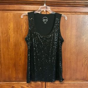Women's Plus Size Sequined Tank Top